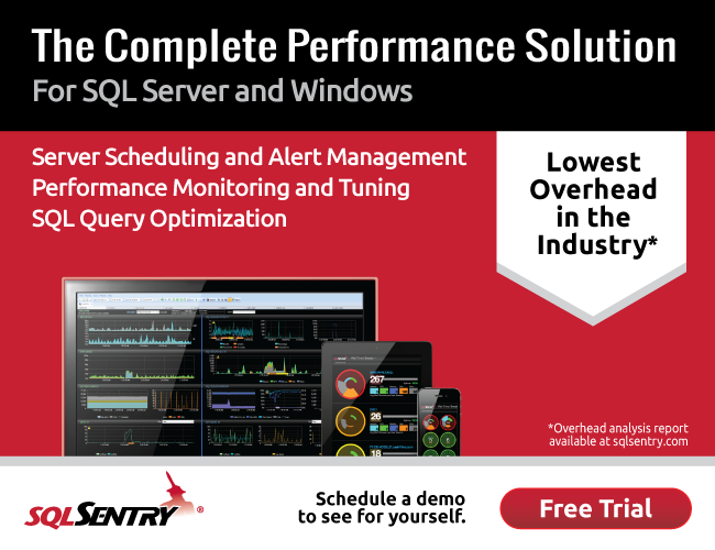 Download the complete performance solution for SQL Server and Windows.