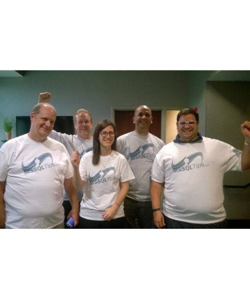 Eric Alter and his SQL Server team wearing their n