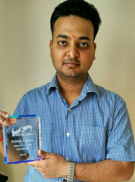 MSSQLTips.com Author Rajendra Gupta with his 2016
