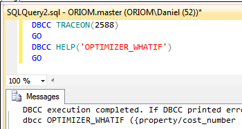 Usage of DBCC OPTIMIZER_WHATIF for SQL Server Query Tuning