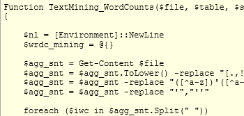 PowerShell and Text Mining Part I: Word Counts, Positions