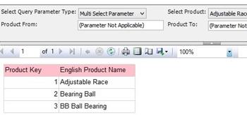 Creating a multi-option parameter report for SQL Server