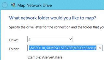Make Network Path Visible For SQL Server Backup and Restore