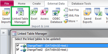 Programmatically changing SQL Server linked tables in Microsoft Access