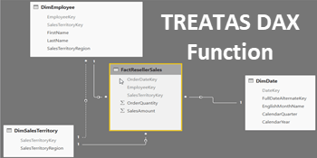 How to use the TREATAS function in DAX