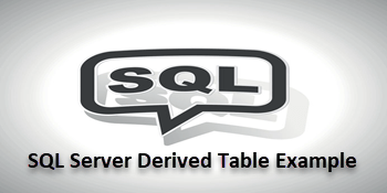 Sql Server Derived Table Example