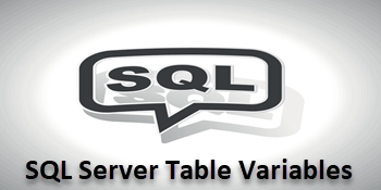 QnA VBage SQL Server Table Variable Example