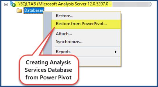 创建分析服务数据库