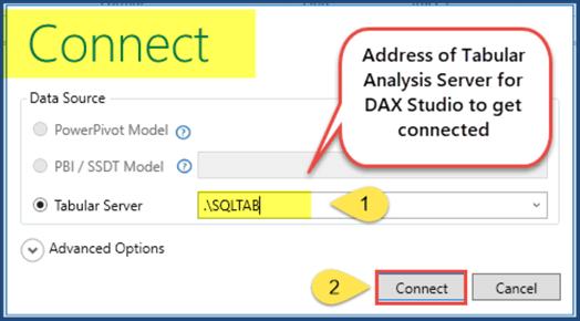 用dax studio连接到服务器