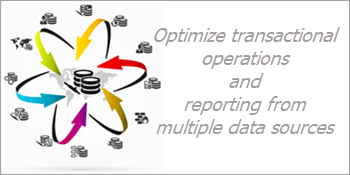 Optimize transactional operations and reporting from multiple data sources
