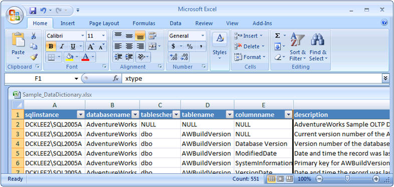 Build A Sql Server Data Dictionary With The Extended Properties