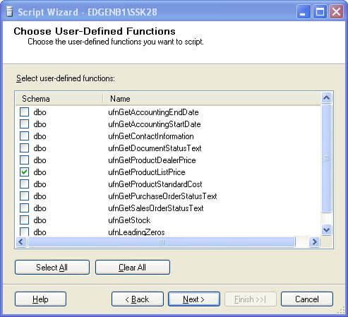 choose user-defined functions
