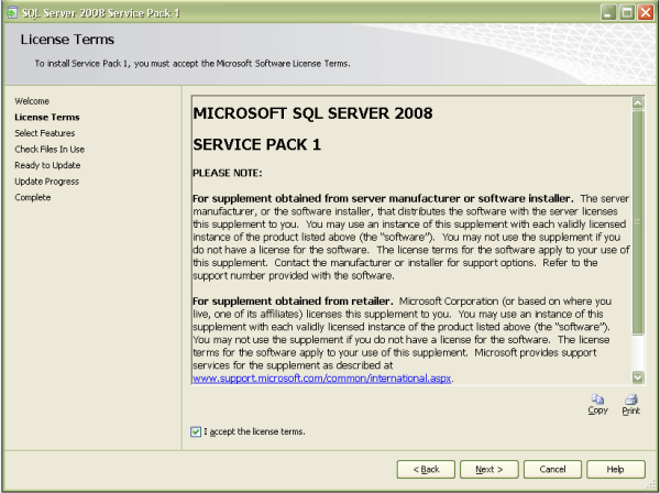 windows 2008 service pack 2