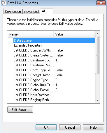 Select the All tab and double-click Data Source