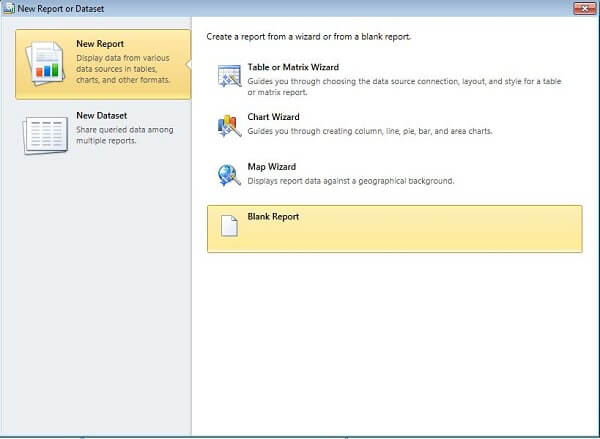 use report parts in a reoprt