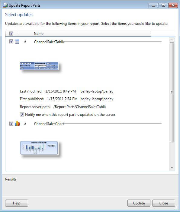Report Parts is a new SQL Server 2008 R2 feature that can make it easier for business users to create their own reports.