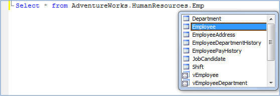 use the auto complete feature of intellisense