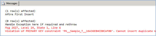 using the throw command in sql server denali