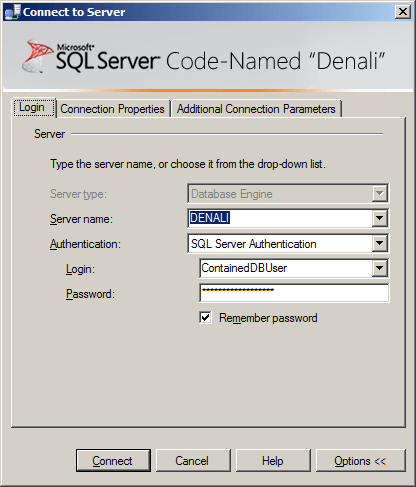 sql server authentication