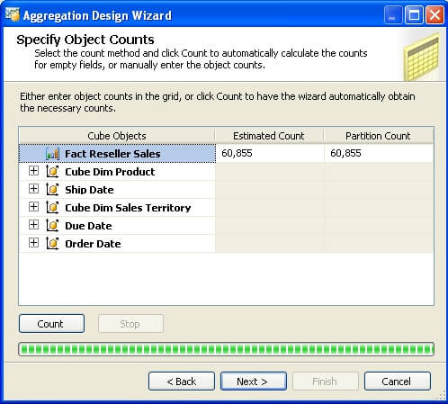 aggregation design wizard