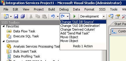 SSIS Redo Drop Down List