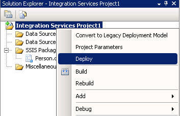 SSIS Deployment