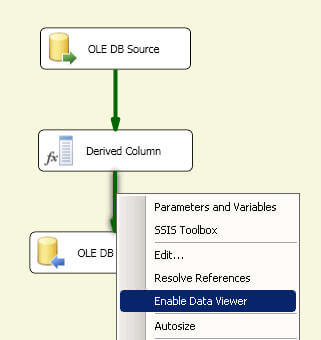 SQL Server Integration Services Data Viewer