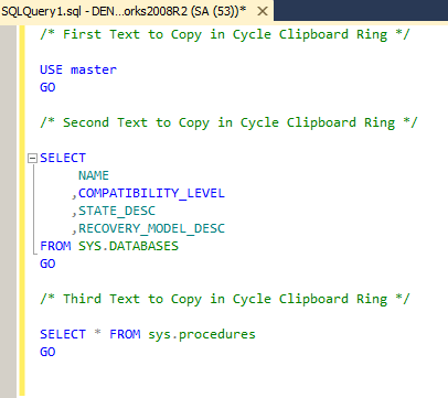 in ssms copy and paste the t-sql code in a new query window