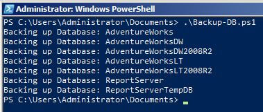 PowerShell Output of SQL Server Backup Commands