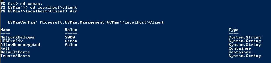 PowerShell 2.0 all_directories_under_wsman command example