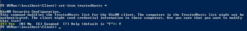 PowerShell 2.0 set-trustedhostes command example