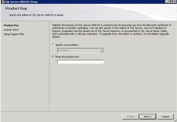 microsoft sql server 2008 r2 enterprise key