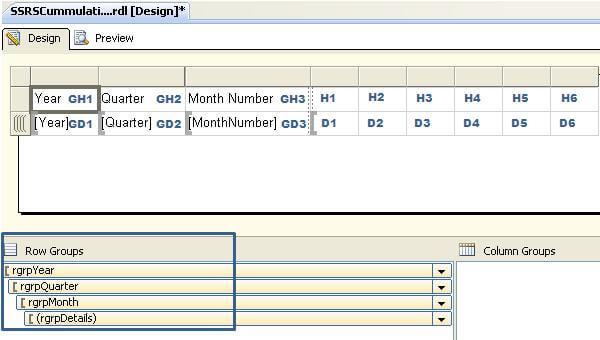 SQL Server Reporting Services Row Groups