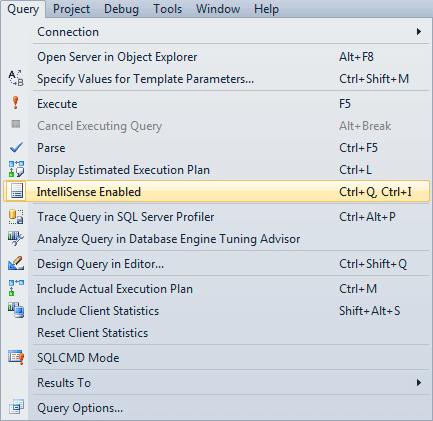 Troubleshooting IntelliSense in SQL Server Management Studio