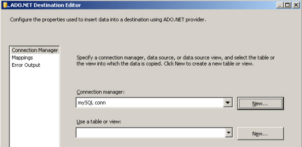 Export data from MySQL to SQL Server
