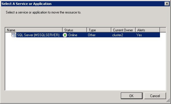 Select A Service orApplication