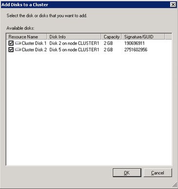 Add Disks to a Cluster