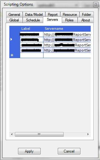 Scripting tool Servers grid