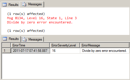 Throw Feature in SQL Server 2012
