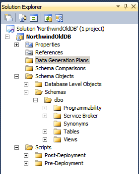 Visual Studio *.dbproj file structure