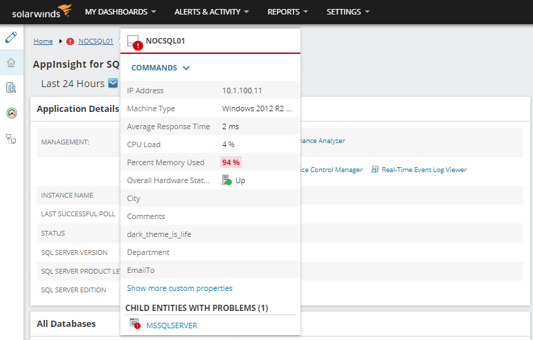 SolarWinds Application Monitor