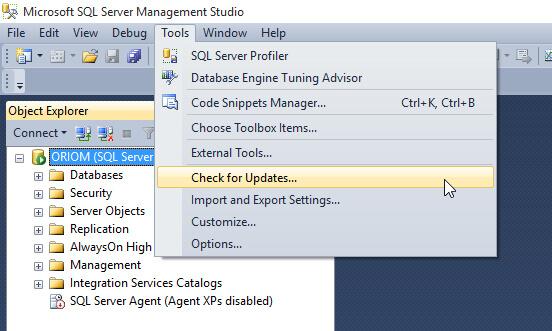 Automatic Updates for SQL Server Management Studio