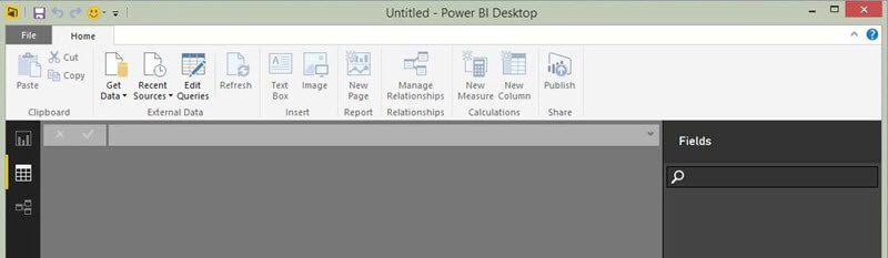Empty Power BI Workspace