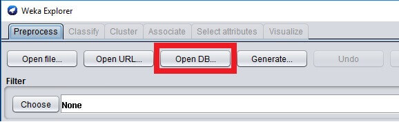 Click on Open DB...