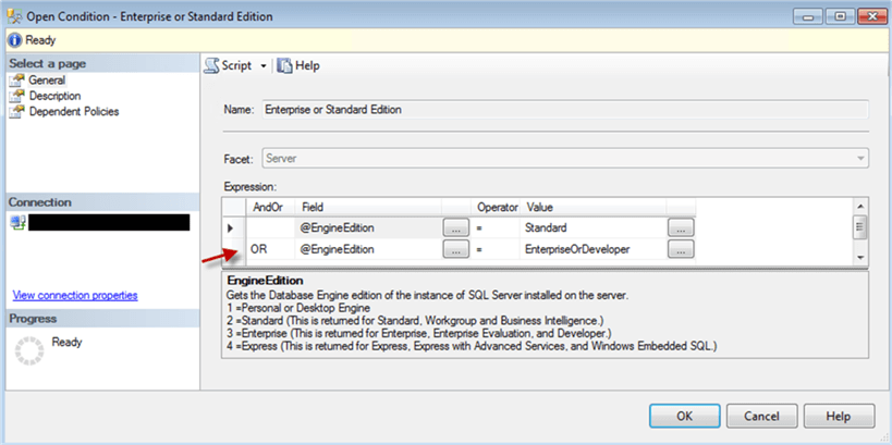 """Enterprise or Standard Edition""  Condition - Description: ""Enterprise or Standard Edition""  Condition"