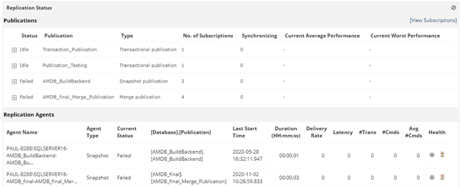 ManageEngine Application Manager Replication Tab