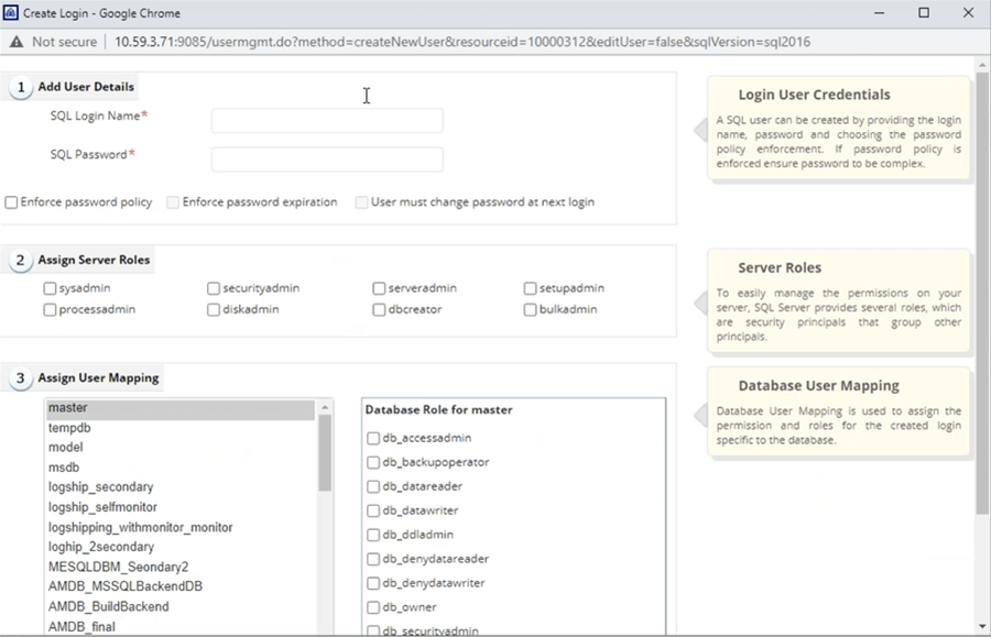 ManageEngine Application Manager Users Tab