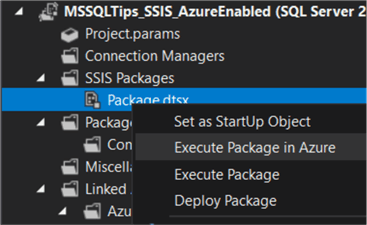 execute in Azure