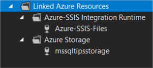 linked azure resources wizard done