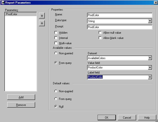 Pass parameters and options with a URL in SQL Server Reporting Services